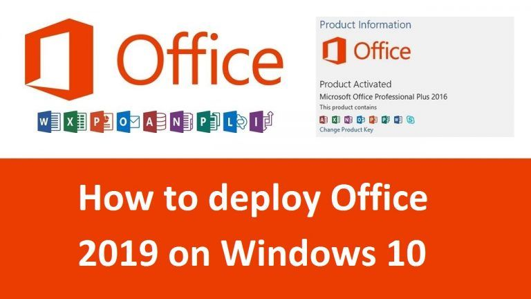 How To Deploy Office 2019 On Windows 10 Office Setup In 2020 Tech Websites Technical Writer Informative