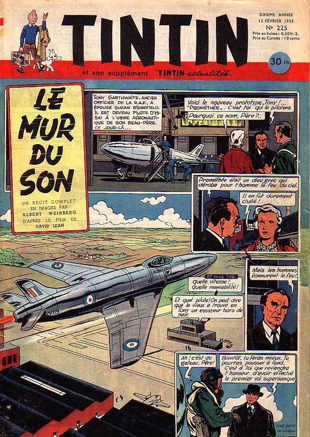Tintin N°225 - 1953 - Le mur du son