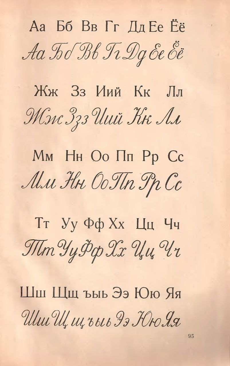 Russian Cursive From A Soviet Era Alphabet Book Size Could Be