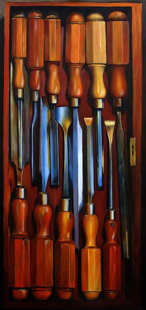 Oil on canvas quot boxwood handled chisels woodworking