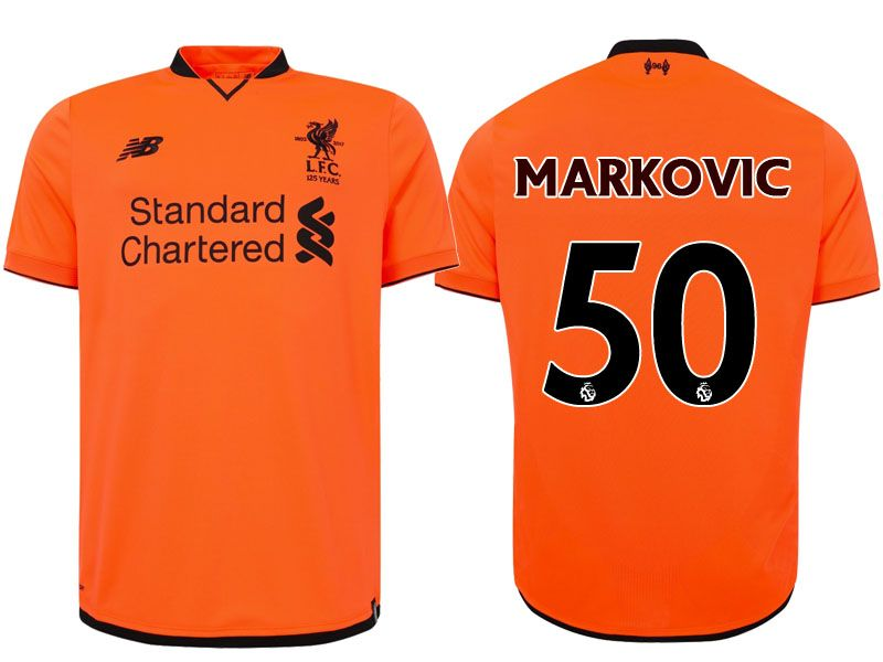 Liverpool Jersey Orange Third 2017-18 Shirt  075320550