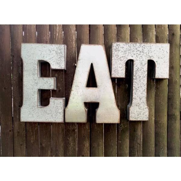 Large Metal Letters For Outside Mesmerizing Eat Signlarge Eat Signkitchen Eat Signmetal Lettersgalvanize Design Inspiration