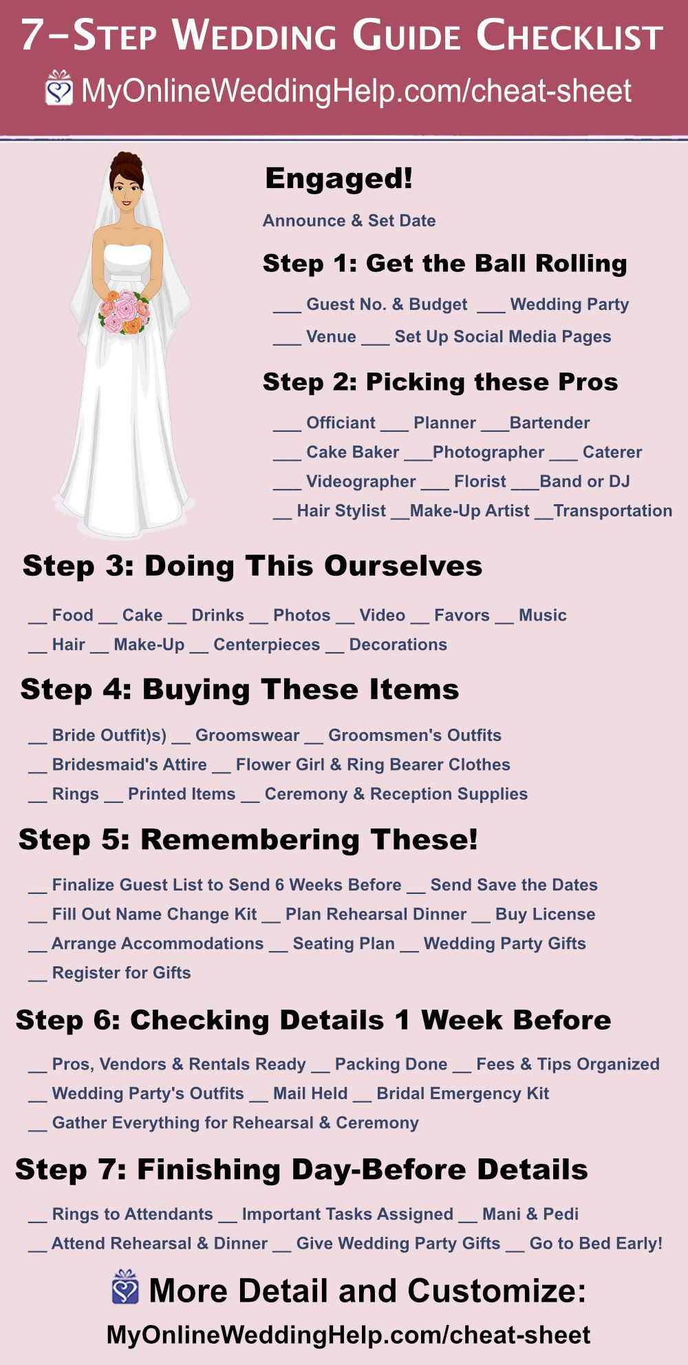 7-Step Wedding Guide Checklist and Printable