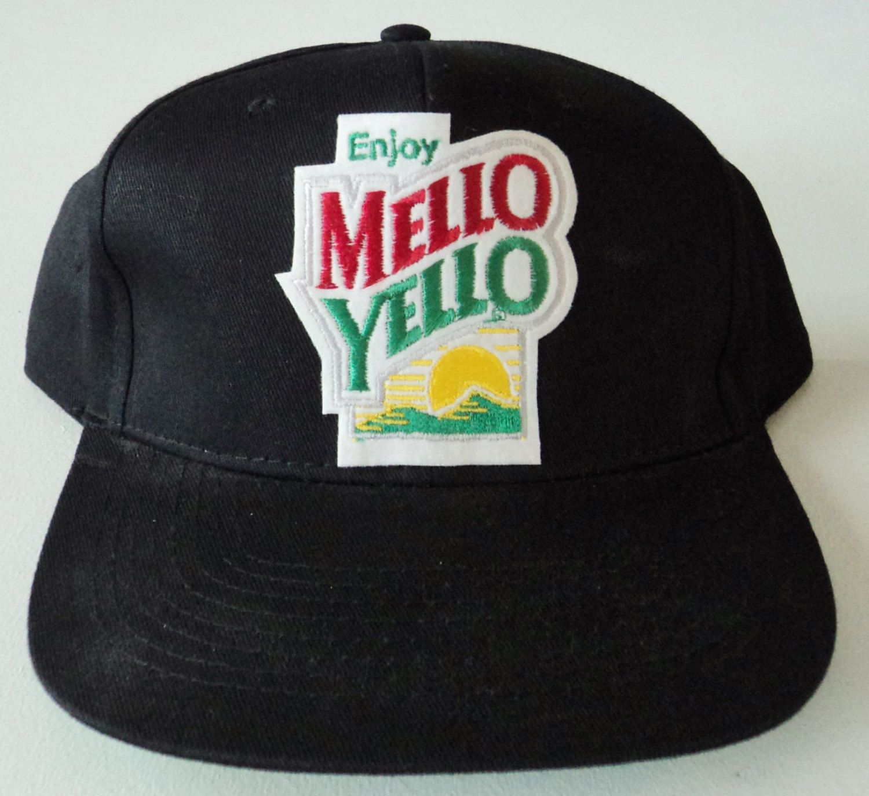0dc0159a6719e Vintage Mello Yello Snapback Hat VTG by StreetwearAndVintage on Etsy ...