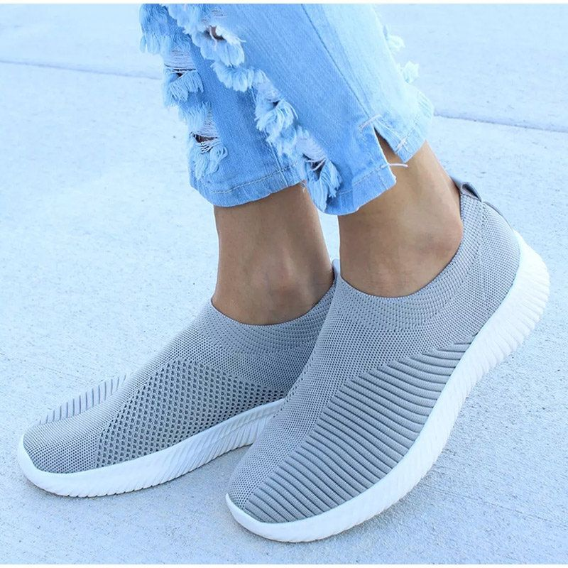 Details about  /Womens Real Leather Lace Mesh Breathable Slip on Slippers Casual Shoes Loafers
