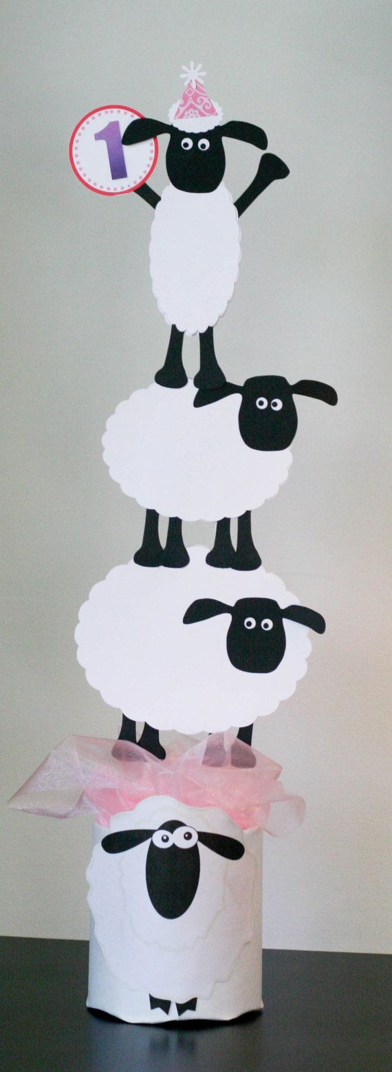 Shaun the Sheep Center Piece Party Decorations by thepaperlion ...