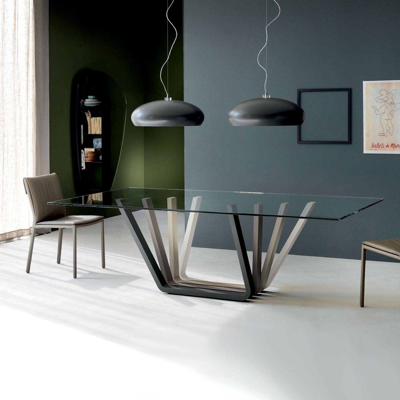 Tavolo da soggiorno con base multicolore Domino di Cattelan | Ideas ...
