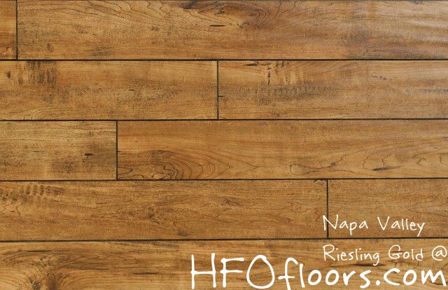 Napa Valley Riesling Gold 12mm Distressed Laminate Available At Hfofloors Com Builddirect Maple Laminate Flooring Laminate Flooring