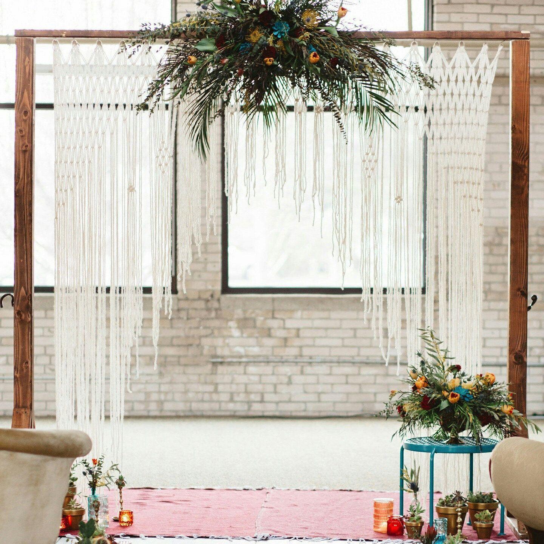 Large macrame wedding backdrop decor for ultra luxurious