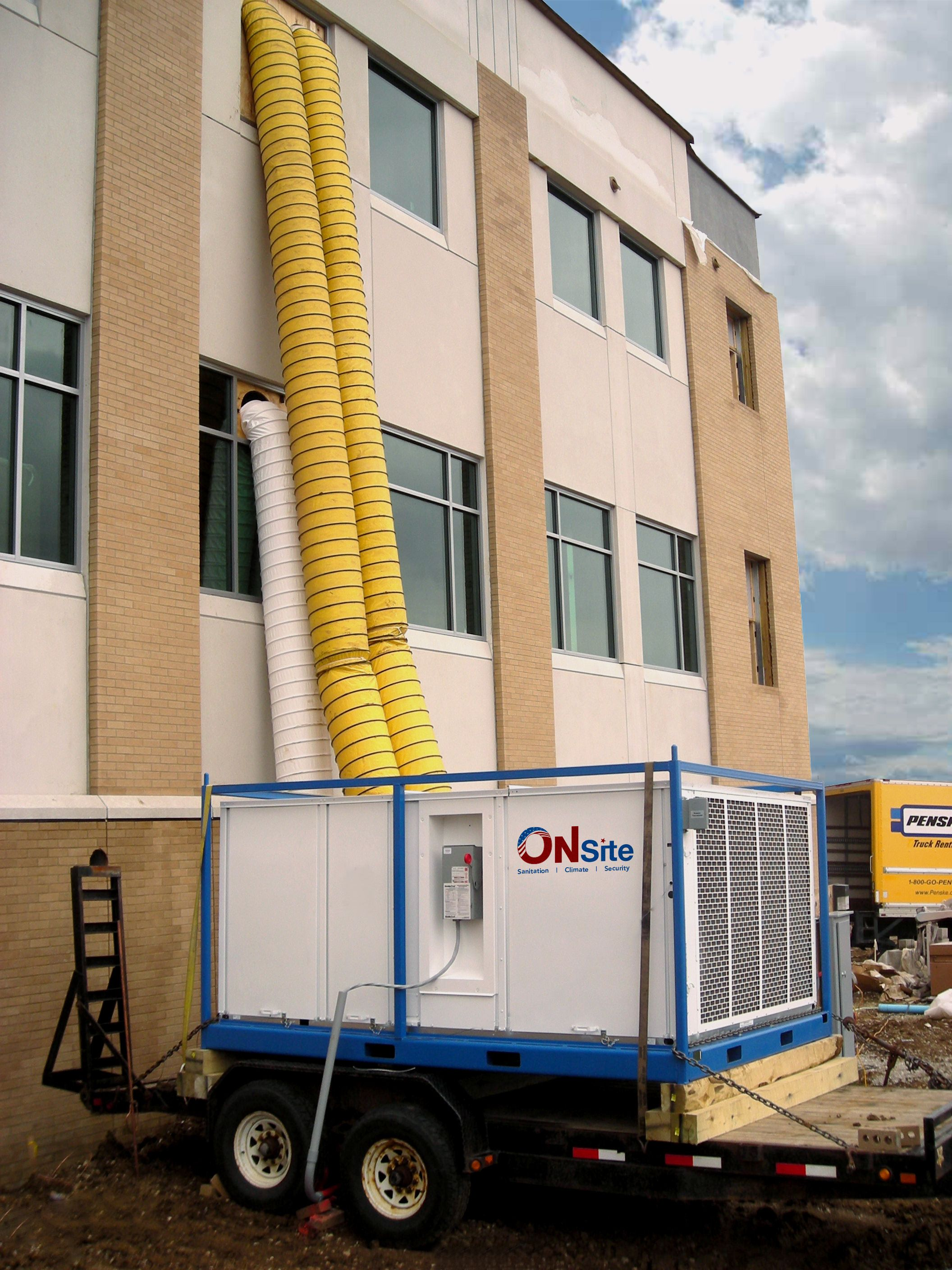 Temporary Solution For Cooling Your Building Down In The Summer Months Portable Air Conditioning Construction Equipment Air Conditioning