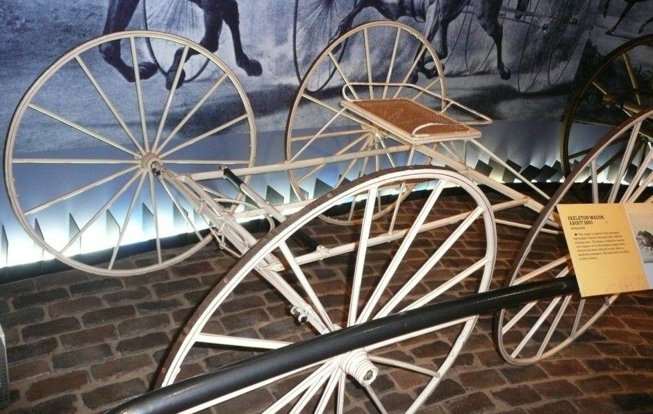 Four wheel skeleton wagon 18551865 the long island