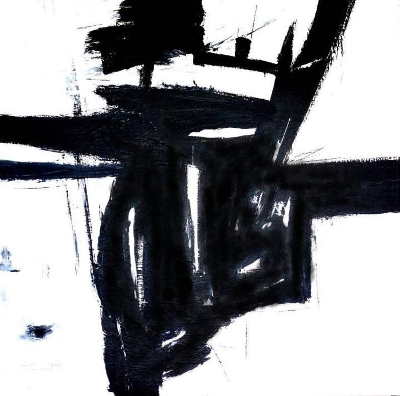Triptych, Black And White Abstract, Abstract Art P