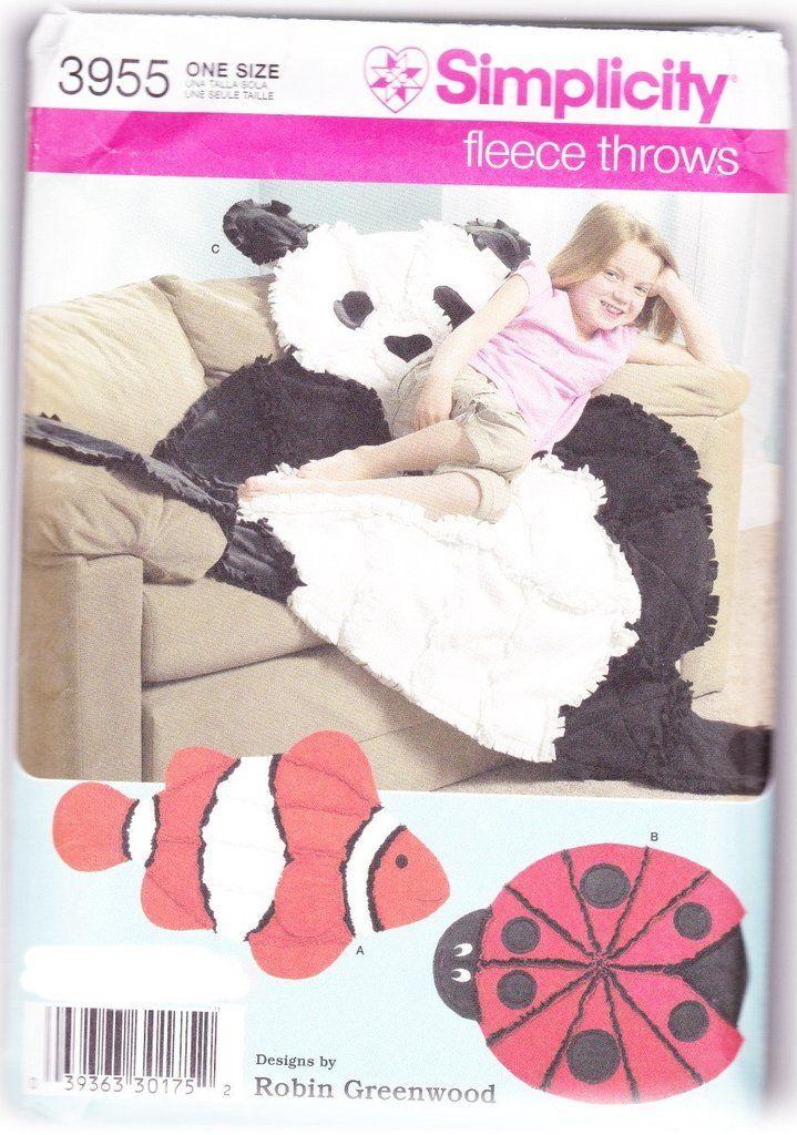 Clown Fish Teddy Bear Lady Bug Throw Blankets Simplicity