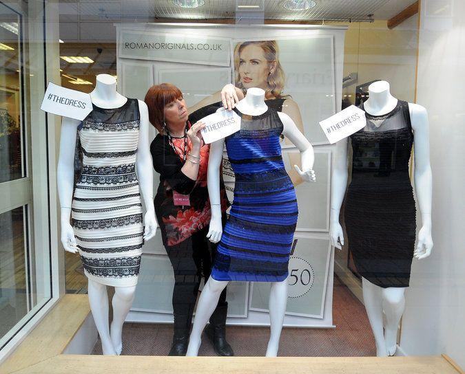 Blue black dress real color