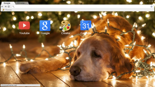 Christmas Puppy Chrome Theme