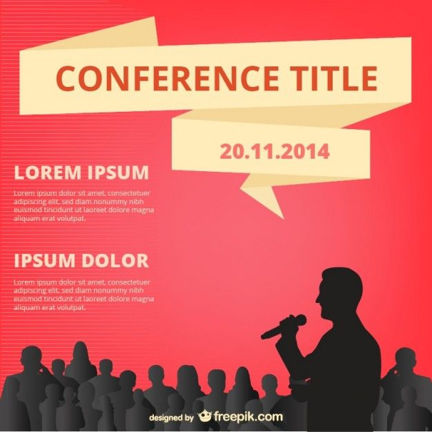 Conference vector design free download Layout Sources - booklet template free download
