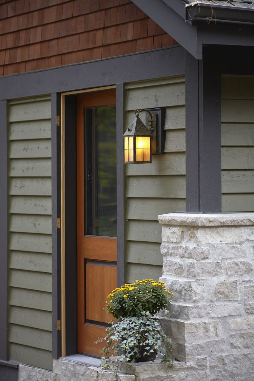 Lantern 7 Wide Scrolled Hook Exterior Wall Light #craftsmanstylehomes