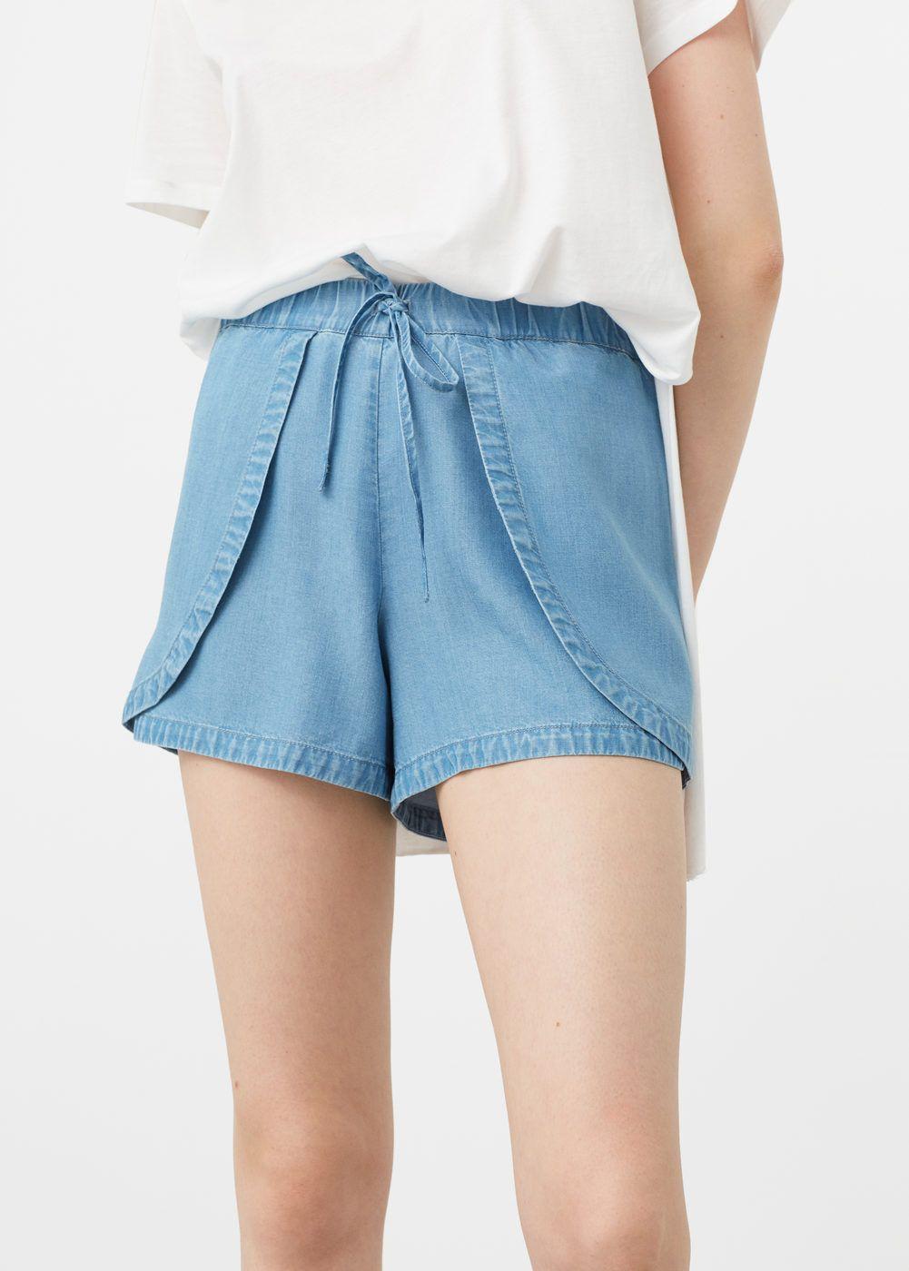 8ca62999a550c9 Denim tencel® shorts - Women | My Style | Denim outfit for women ...
