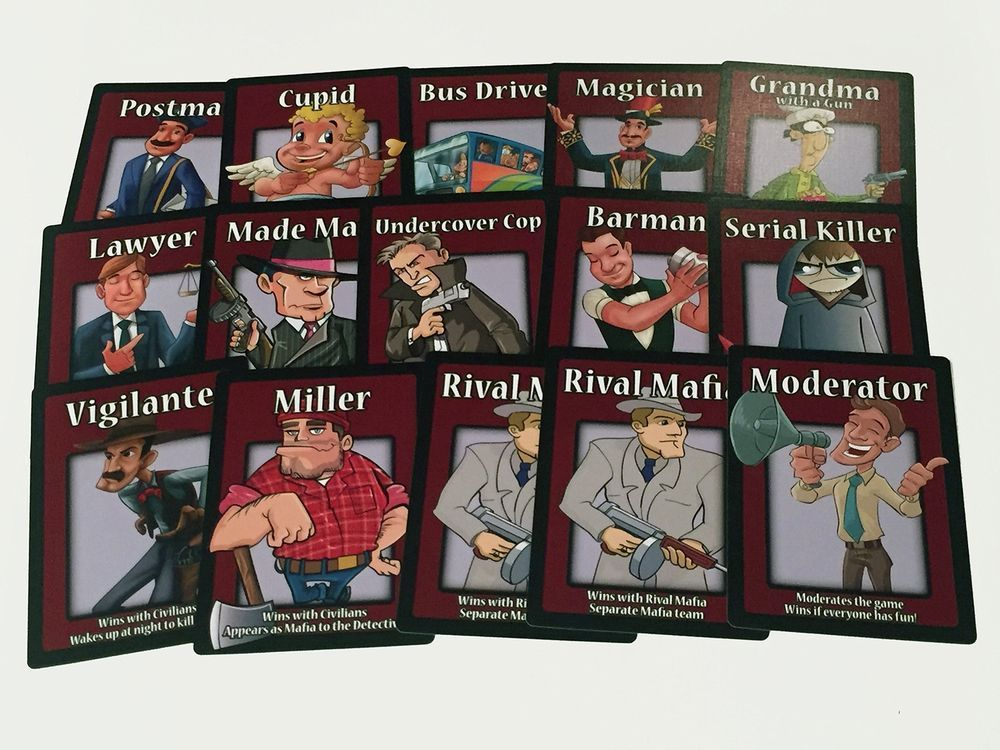 Mafia The Party Game 38 Counts Cards Set For Mafia Playing