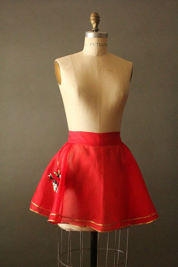 Vintage 50's Candy Apple Red and Gold Sheer by MrMisterVintage