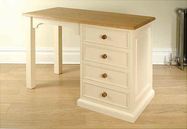 Mottisfont Painted Desk Dressing Table White Pine Wooden