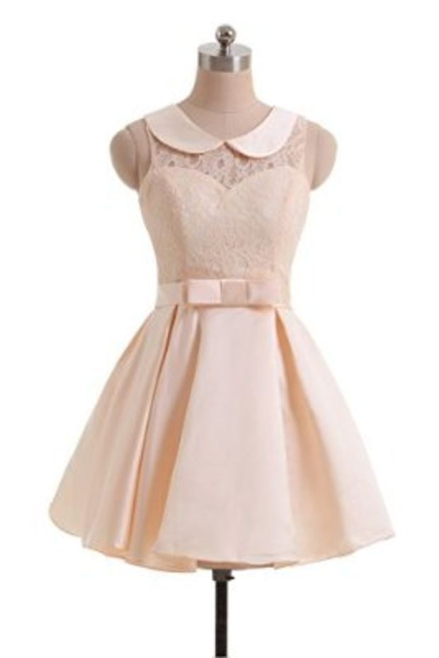 Prom Dresses with Peter Pan Collar