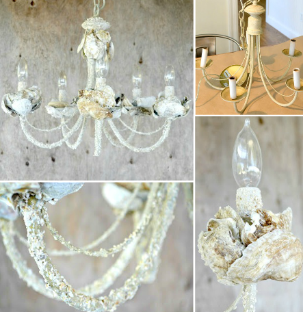 Diy Shell Chandeliers Beach Cottage Decor Shell Chandelier