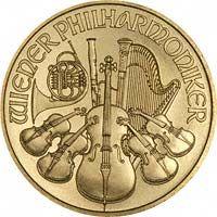 Reverse of Austrian One Ounce Gold Philharmoniker