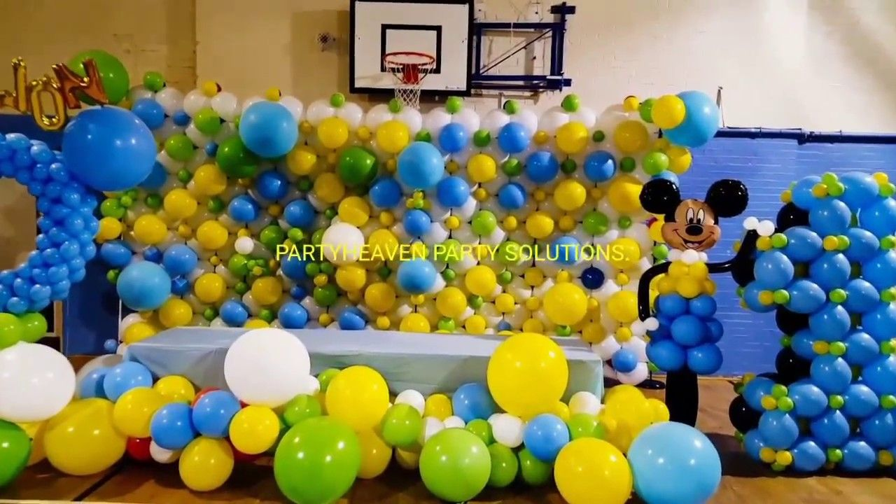 Organic Balloon Wall (Mickey Mouse) | Organic Balloon decor ...