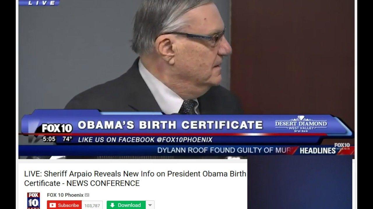Sheriff arpaio concludes obama birth certificate is a fake sheriff arpaio concludes obama birth certificate is a fake aiddatafo Image collections