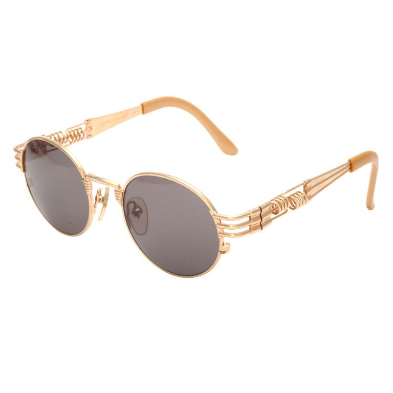 661673a7db61 JEAN PAUL GAULTIER 56-6106 GOLD SUNGLASSES- go for the GOLD