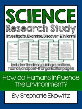 Human Influence on the Environment Project | Science