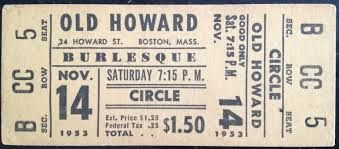 Image result for old theatre tickets