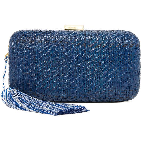 Manchester Great Sale Sale Online Clearance chain strap woven clutch bag - Blue Kayu nG5vs