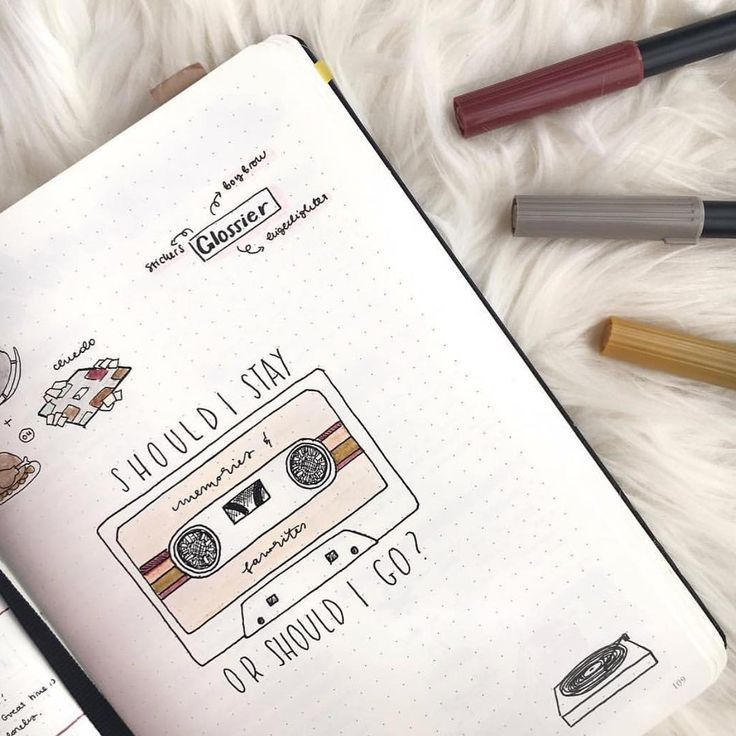 Top 12 Brown Bullet Journal Spreads from March #bulletjournaldoodles