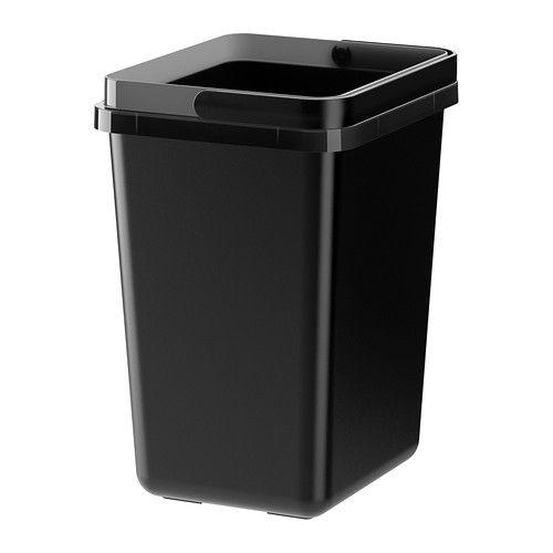 Ikea Abfalleimer variera behälter für abfalltrennung schwarz behälter abfalleimer
