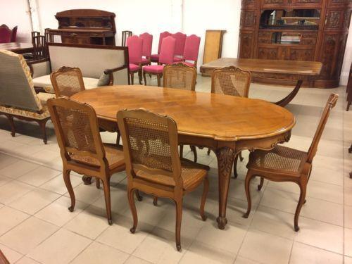 Table et six chaises de salle à manger style Louis XV-Régence - salle a manger louis