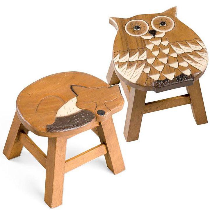Fox Owl Stools Wooden Stools Stool Wood Stool