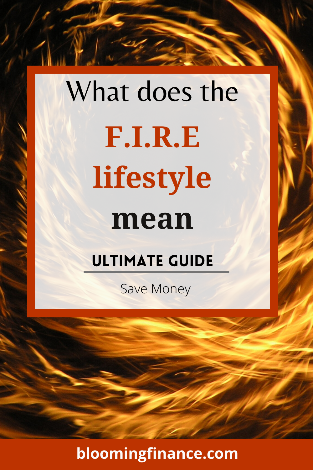 What does the fire lifestyle mean Financial Independence