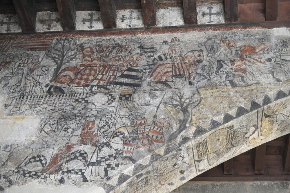 Fresco in Castle-Convent of the Knights of Calatrava, Alcañiz, Spain (1325-1347)