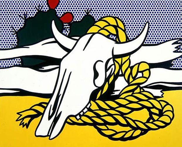 Roy Lichtenstein - Still Life with Cow Skull, 1972