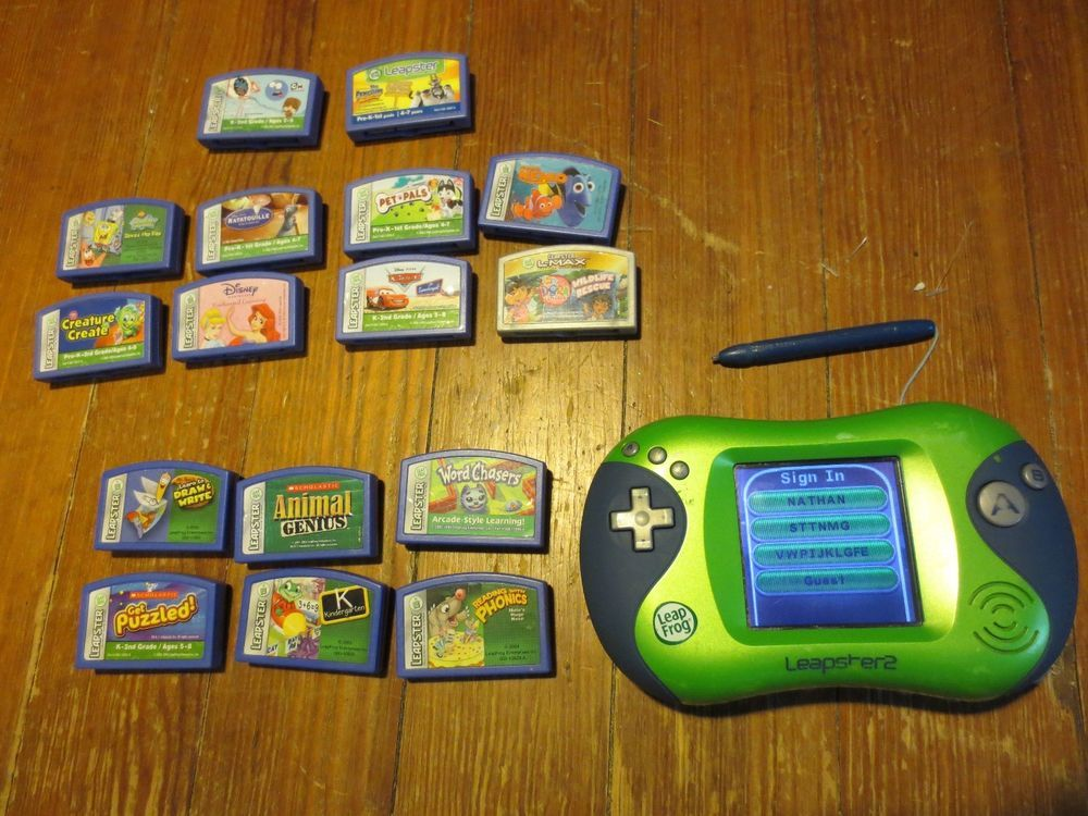 Leapfrog Leapster learning game The princess and the frog New Leapster 1 and 2