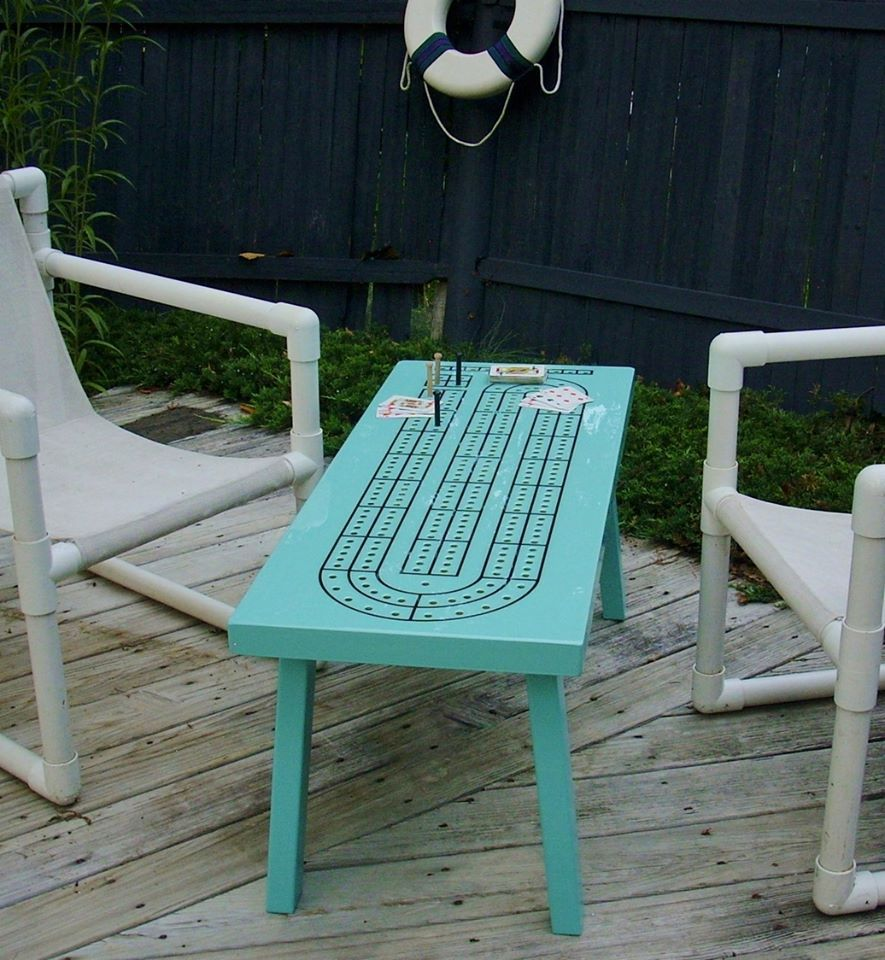 Crib boards for sale uk - Cribbage Board Table So Cool Wonder If There Could Be A Yatzee Table Top
