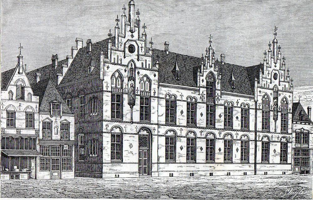 Antique print Utrecht Holland Hospice St. André 1884