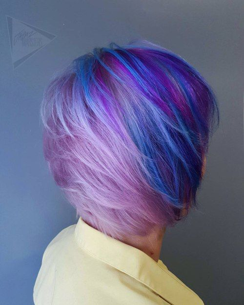 20 Blue And Purple Hair Ideas Purple Pixie Blue Highlights And