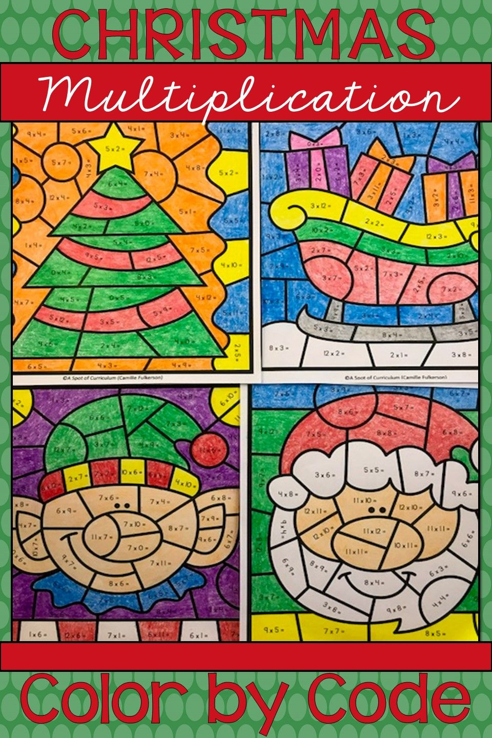 Multiplication Color By Number Christmas Christmas Math Worksheets Christmas Multiplication Christmas Worksheets [ 1440 x 960 Pixel ]