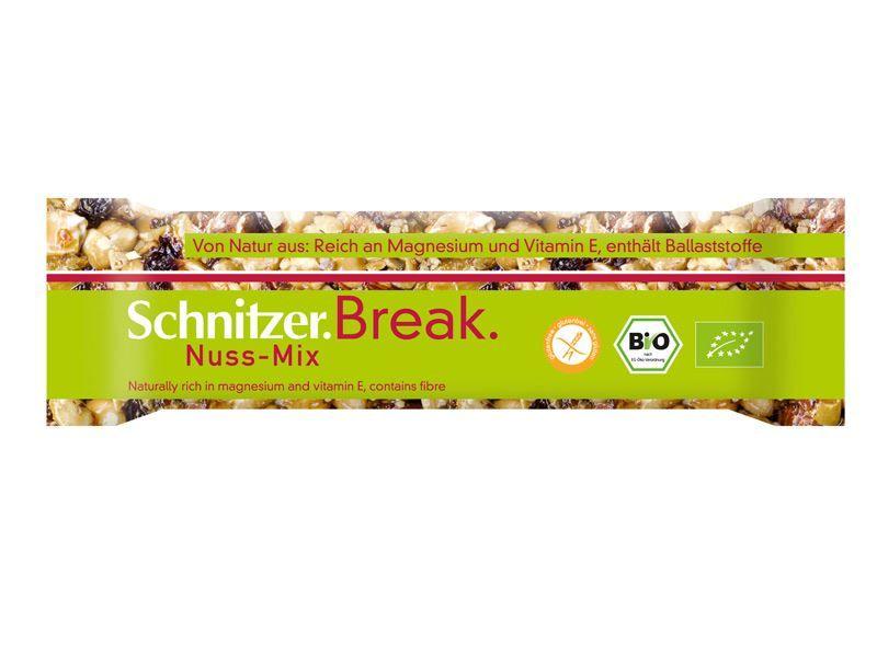 BATON ORZECHOWY MIX BIO B/G 40 g - SCHNITZER - Bio Planet