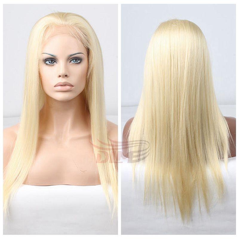 Natural Looking 8a Blonde Peruvian Human Hair Full Lace Glueless