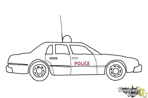 How to Draw a Police Car - Step 9 | Police cars, Pictures ...