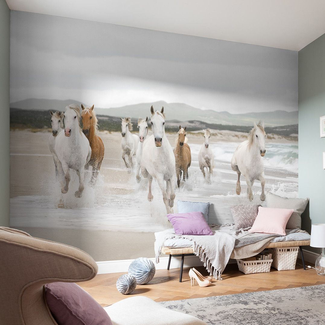 Komar White Horses Wall Mural (With images) Horse mural